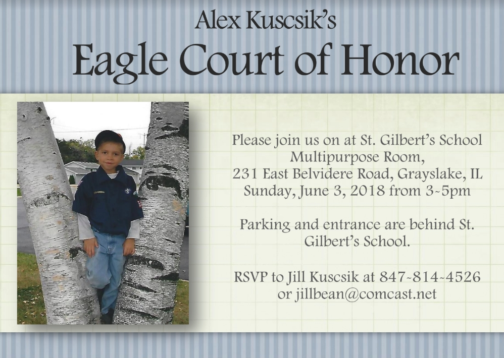 Alex Kuscsik's Court of Honor